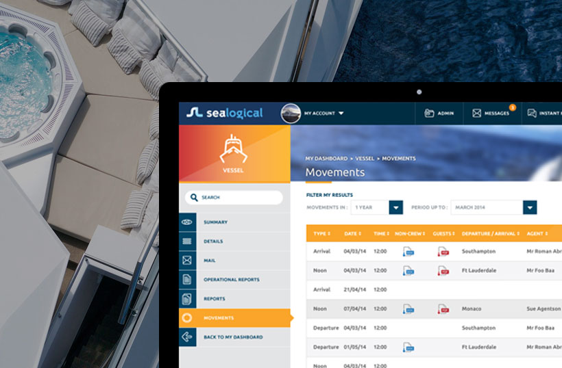 Image of leading yacht management system built by Webigence